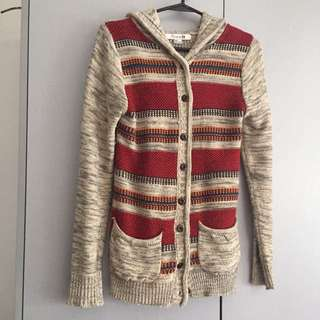 Forever 21 Native Print Wool Jacket