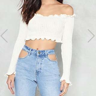 Nasty Gal off the shoulder blouse
