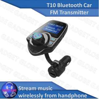 🚚 Car Bluetooth Wireless FM Transmitter For Music Spotify Deezer Itunes