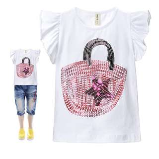 [Buy 3 for $10] Girls Graphic T-shirt/ Girls Clothing 9002A