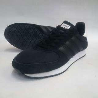 Adidas neo black hot sale