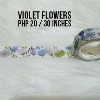 Flowers Washi Sample