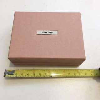 Miu Miu Card Holder/Wallet Box