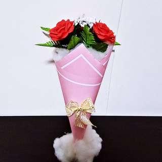 PRE-ORDER Personalised Handmade Crepe Flower Bouquet - 2