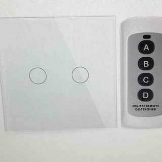 2Gang Touch Switch with Remote