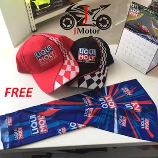 Free liqui moly scarf  or cap  for purchase of liqui moly bike care product