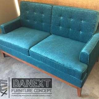 2-seater sofa in uratex foam and belgium fabric
