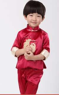 Cheongsam Top+Pants young boy Kids Traditional Racial Harmony Children CNY