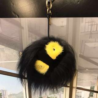 Fendi Men Monster Fox Fur Charm