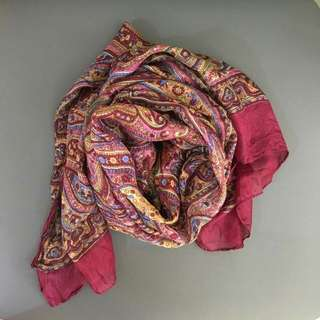 Paisley Indian Silk Scarf