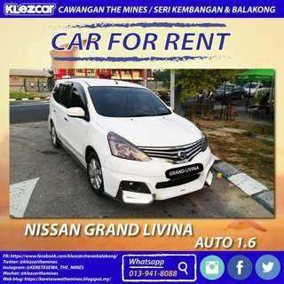 Nissan Grand Livina For Rent