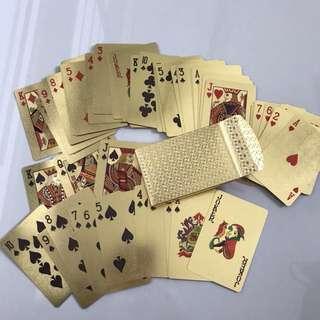 Gold Porker Cards