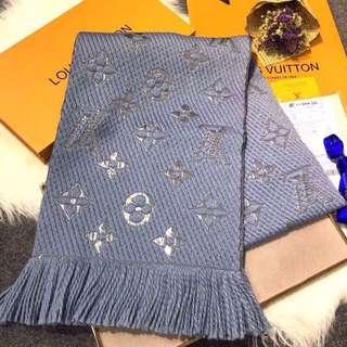 Authenthic M70467 LV LOGOMANIA SHINE scarf