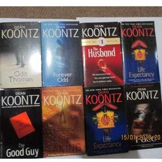 Dean Koontz, Paperbacks, Pre-loved Book, Books, Softbound
