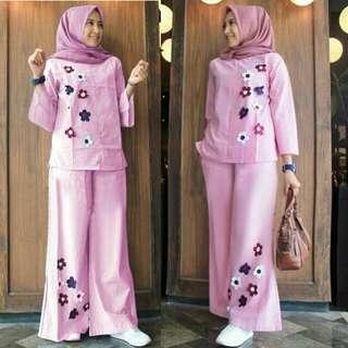 Set Kulot Sunny Pink