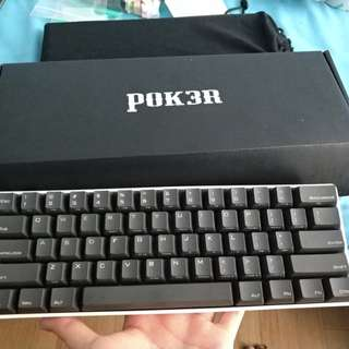 Pok3r Keyboard with plastic case