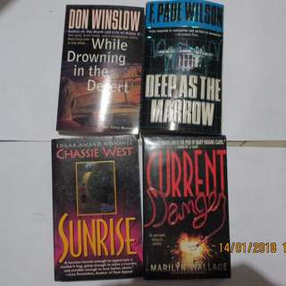 Marilyn Wallace, Chassie West, F. Paul Wilson, Don Winslow Paperbacks, Preloved Book
