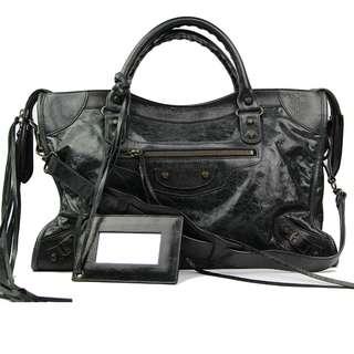 Balenciaga city shoulder bag black