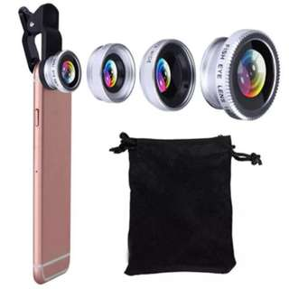 📱Universal 3in1 Clip On Lens - Wide Angle, Fish Eye, Macro 📱