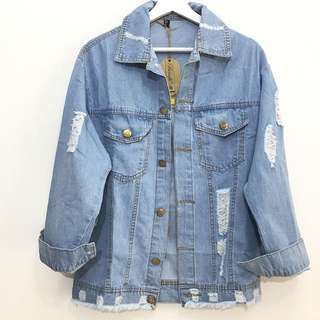 BERSKHA LOOK ALIKE DENIM JACKET