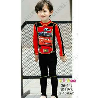 *FREE DELIVERY to WM only / Ready stock* Kids boy swimming suit each set of 2pc as shown design/color. Free delivery is applied for this item.
