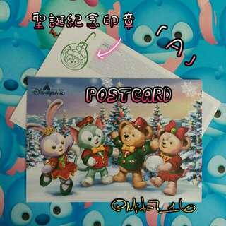 香港迪士尼( 聖誕 )明信片~ A款
