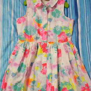 Gap Kids Girls Colourful Flowers Dress