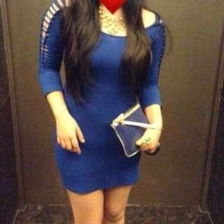 Sexy royal blue dress