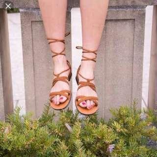 Brash Tia Black Gladiator Sandals Size 7 Free Shipping
