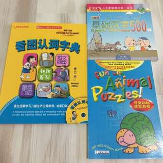 Chinese Picture Dictionary, Basic Chinese Words and Activity Book