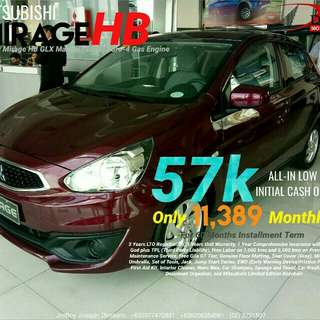 Mitsubishi Mirage Hatchback SURE Approval NO Minimum Requirements DIAL NOW! 09277472861 or 09206354961