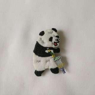 熊貓 胸針 扣針