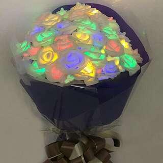 發光玫瑰花 情人節 禮物 拍拖 結婚 周年 求婚 特別 創意 小手工 禮物 女朋友