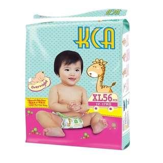 KCA Baby Diapers Size XL (12-17kg) 4 packs X 56 pcs