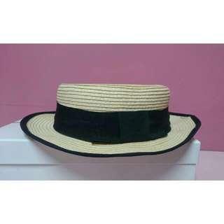 平頂編織紳士帽