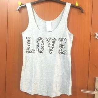 H&M love tank top