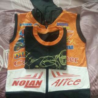 Kids Tshirt Combo with Sleeveless Jacket