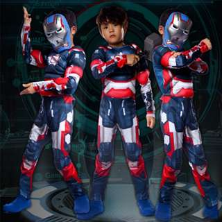Ironman Muscles Boys Dress Up Kids Costum-MK30