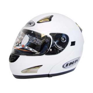 Helmet Ink Vector MDLR L Solid (White/Pearl/Gold)