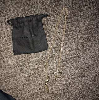 Givenchy necklace sharktooth with diamonds