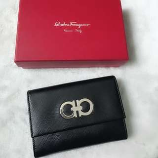 ferragamo short wallet card holder