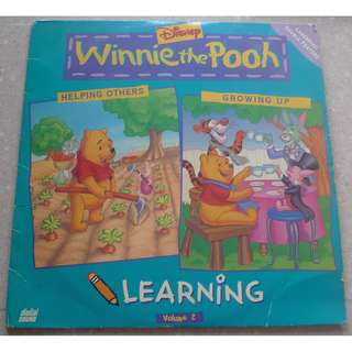 WINNIE THE POOH LEARNING Volume 2 Laserdisc LD Helping Others/ Growing Up