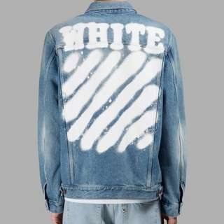 Off White 17SS Spray Denim Jacket