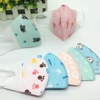 【3盒起8折】嬰幼兒童專用/成人一次性透氣3D卡通抗菌防塵口罩