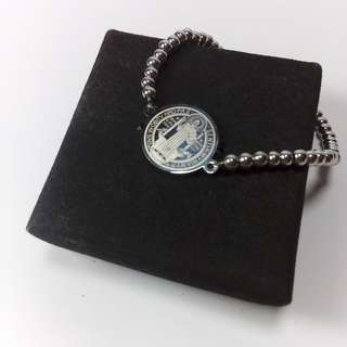 Silver Bracelet (Stretchable) - St Benedict