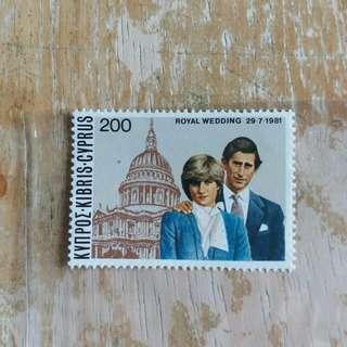 英屬塞浦鲁斯郵票1981年皇子查理斯大婚主全新郵票一套一全