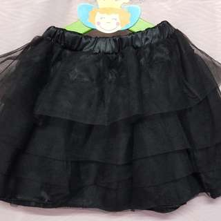 Magician Kids Black Layers Tutu Skirts