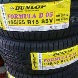 Dunlop 195/55R15 D05 New Tyre