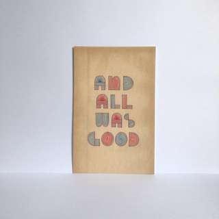 Hand-lettered Postcard by Scott Albrecht - 03