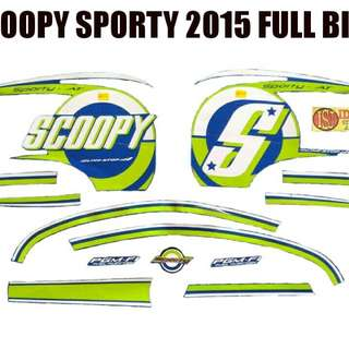 Striping Scoopy Sporty 2015 Full Biru